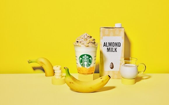 バナナンアーモンドミルクフラペチーノ
