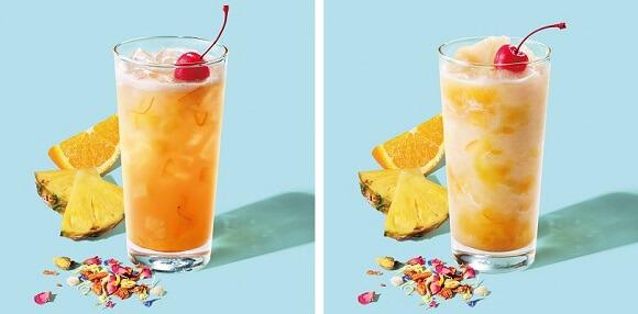 オレンジ&パイナップルコナポップフラペチーノ&ティー