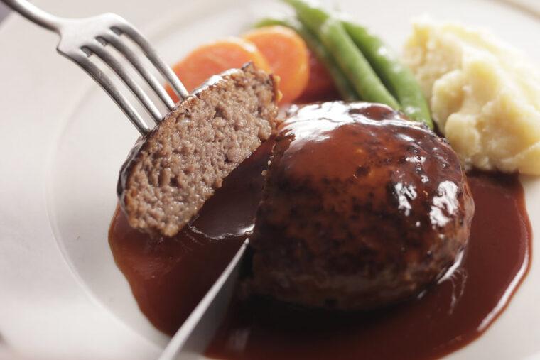黒毛和牛と黒豚のハンバーグ洋食ドミグラスソース